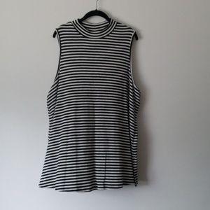 Ava & Viv sleeveless striped tunic womens plus 2x